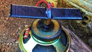 Free Solar Energy Fan With DC Motor Amazing Technology New Idea 2018