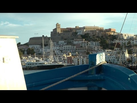 Spain - Balearic Island Ibiza - evening moods in the harbor of Eivissa city