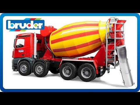 bruder toys mb arocs cement mixer 03654 youtube