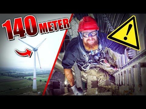 Auf 140 METER Windrad geklettert - ENERCON | Fritz Meinecke
