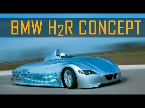 BMW H2R Hydrogen Race Car Record Run in Miramas, France (2004)