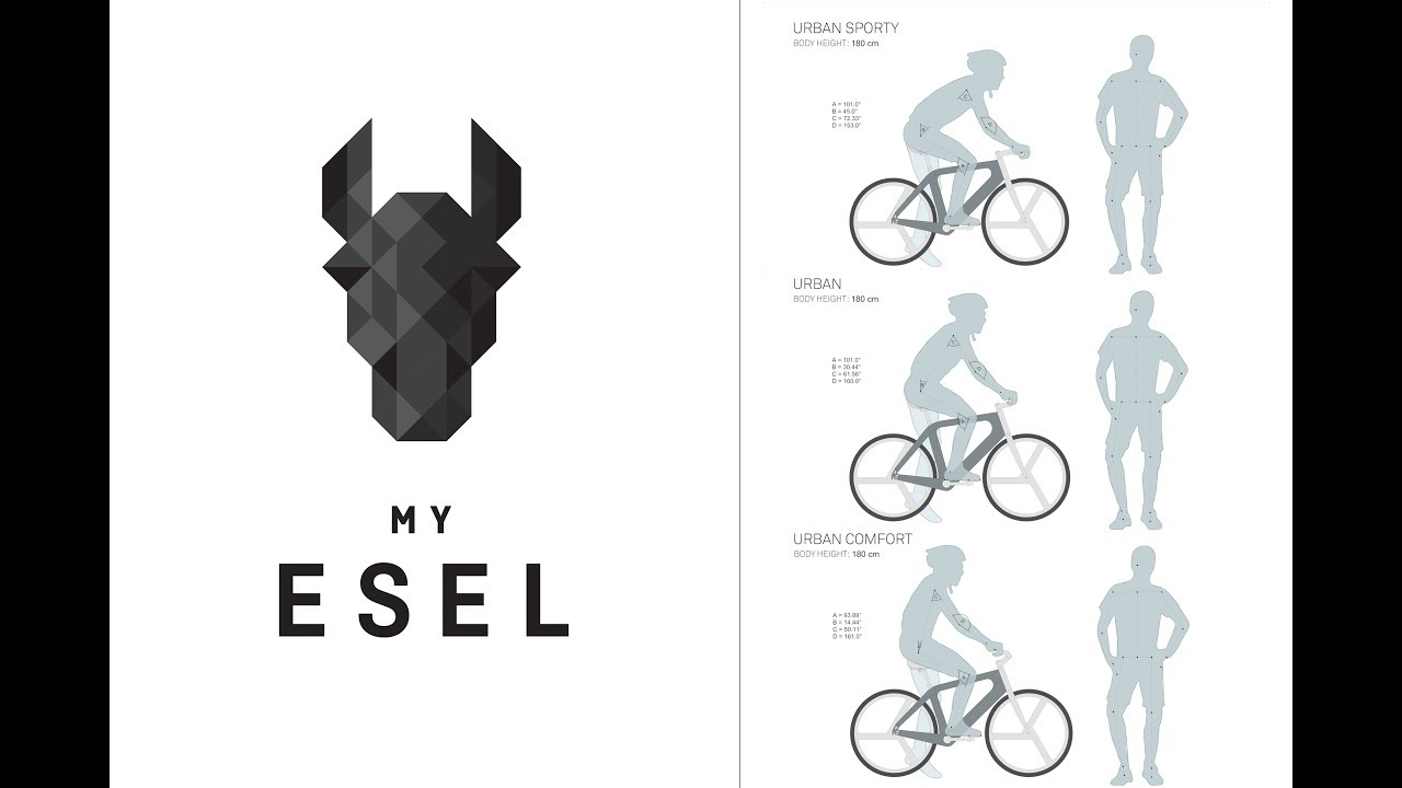 My Esel - the bicycle frame adapts to your body - YouTube