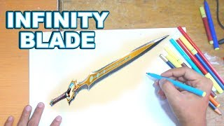 FORTNITE Drawing INFINITY BLADE - How to Draw INFINITY BLADE | Step-by-Step Tutorial - Fortnite