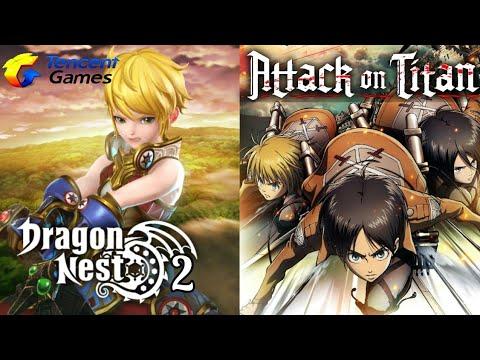 NOVO MMORPG DRAGON NEST 2 | ATTACK ON TITAN OFICIAL MOBILE | NOVO GAME DA CAPCOM | LEGO LEGACY RPG