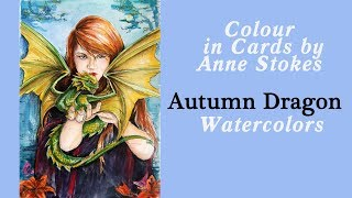 Video Colouring 'Fall Dragon' with watercolors / Fantasy Art by Anne Stokes download MP3, MP4, WEBM, AVI, FLV April 2018