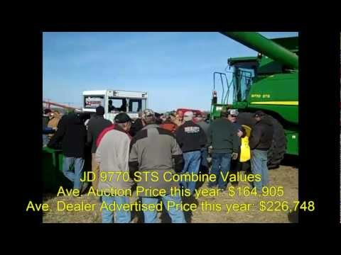 2011 JD 9770 Combine with 0 Hours: Minnesota Farm Auction