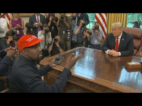 Kanye West steals spotlight from Trump in Oval Office