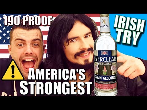 Irish People Try America's Strongest Alcohol - (( Everclear 190 Proof ))
