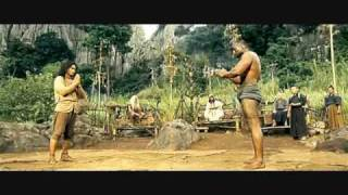 Ong Bak 2 -- fight against trio.