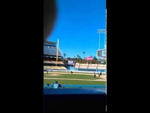 Jencarlos Canela, Eva Longoria at the #CalebritySoftballGame #Bat4Hope - #DodgerStadium