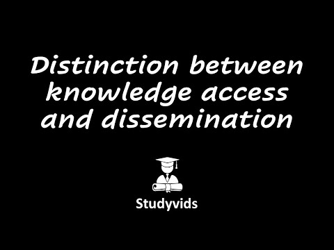 N3101L  Knowledge Access and Dissemination