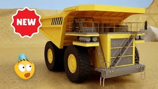Kid's 3D Construction Cartoon : Mining Dump Truck I Learning Construction Vehicles for Kids