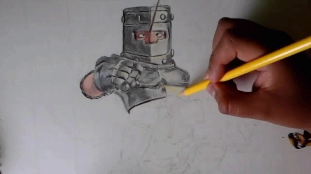 Como Dibujar Al Principe Oscuro: Dibujo Del Príncipe Oscuro(Clash Royale) Drawing Of The