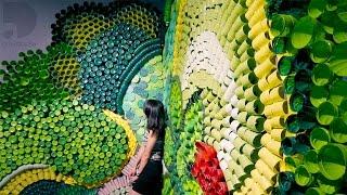 1,000 Recycled Plastic Bottle Art - Eden