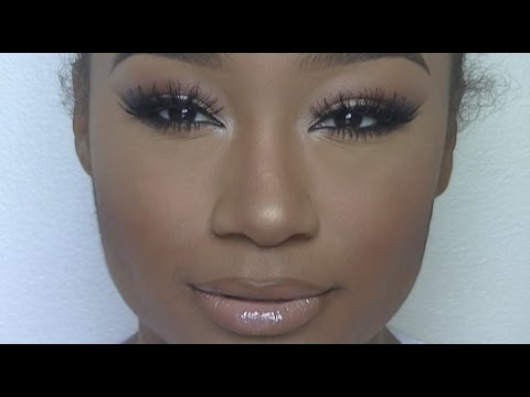 Bronze Smokey Eye Makeup and Glowy Skin | Makeup Tutorial thumbnail