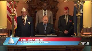Sen. Bizon commemorates 100th Anniversary of the American Legion