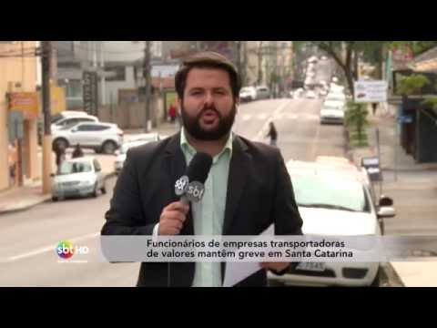 Funcionários de empresas transportadoras de valores mantêm greve em Santa Catarina