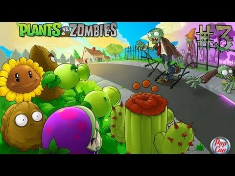 Играем в Plants vs Zombies (Растения против зомби) - Серия 3