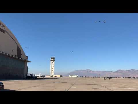 35 F-35's from Hill Afb, UT perform a show of force