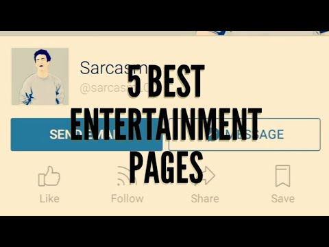 5 Best Entertainment pages of Facebook & social media for funny photos, videos, memes & News.