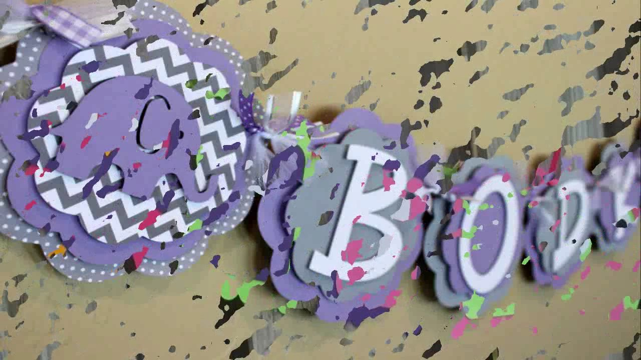 purple baby shower decorations - youtube