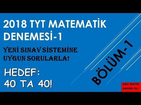 TYT MATEMATİK DENEMESİ-1 (BÖLÜM-1) HEDEF: 40+40