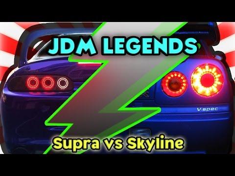 Toyota Supra vs Nissan Skyline GT-R ( JDM Legends )