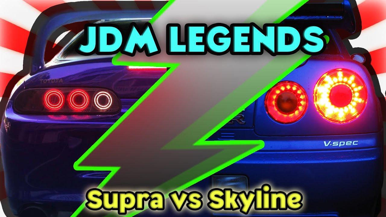 Toyota Supra Vs Nissan Skyline GT R ( JDM Legends )