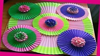 Украшаем Дом, Комнату Своими Руками На Новый Год. Как Сделать Оригами Веер Из Бумаги. DIY Room Decor