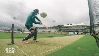 In the nets with England cricketer Jason Roy - GoPro footage