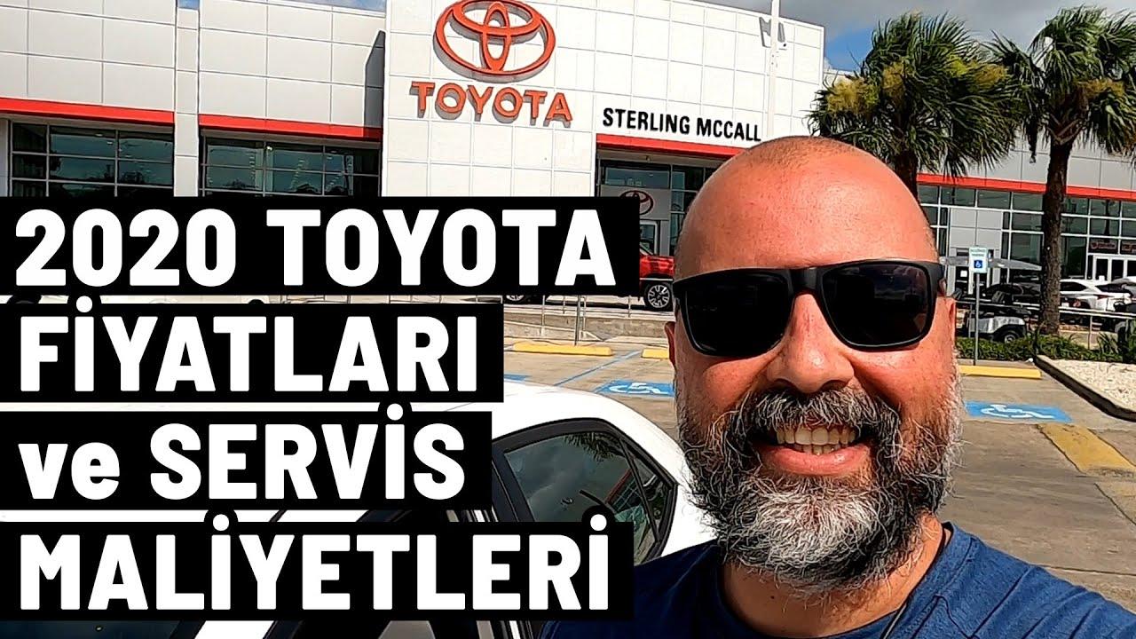 2020 Toyota fiyatları ve servis maliyetleri