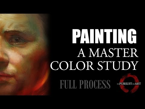 Painting a Master Color Study - Full Process - Studies vs Finished Work - Learning vs Outcome