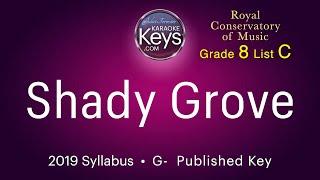 Shady Grove. G-  Traditional Appalachian, arr. by Christine Donkin  (karaoke piano) with lyrics