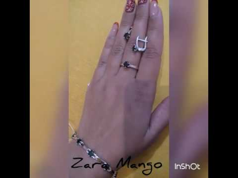 Браслеты в наличии золото серебро кольцо серьги комплект гарнитур zara mango