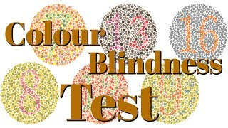 Taking A Colour Blindness Test!