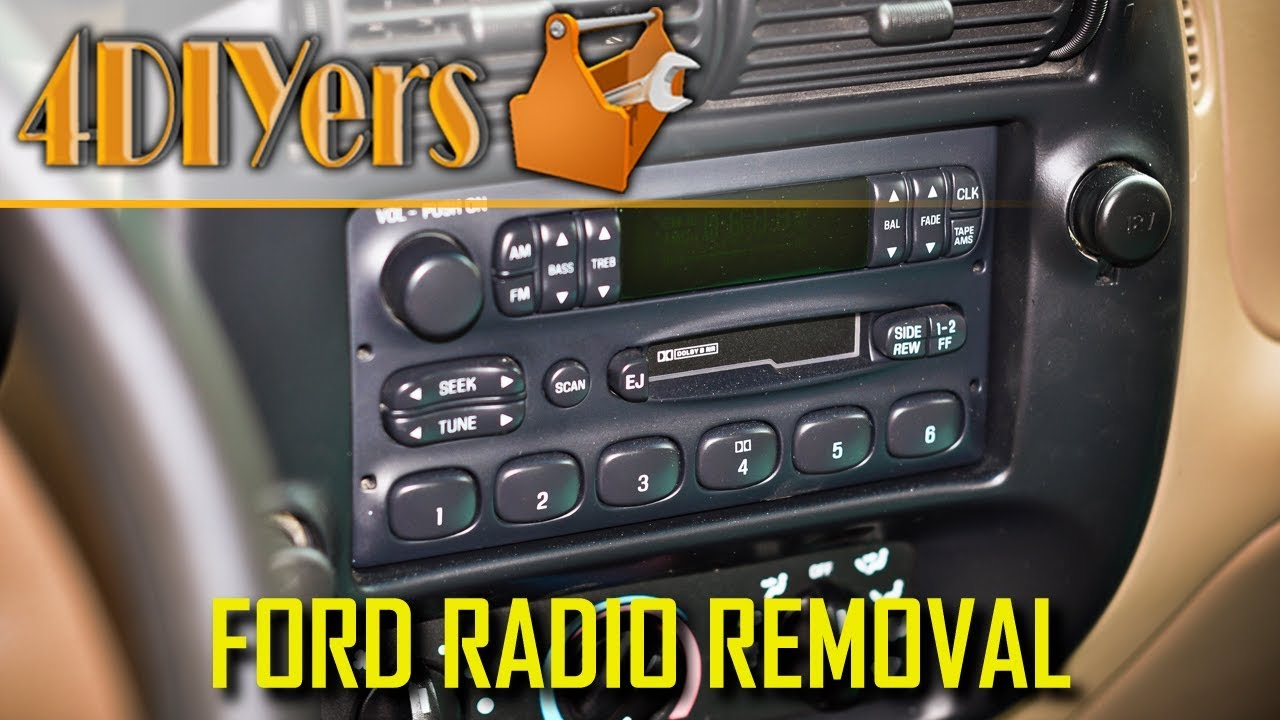 How To Remove A Ford Ranger Radio