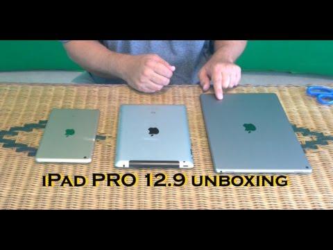 Apple Ipad Pro 129 Unboxing Size Comparisons Youtube
