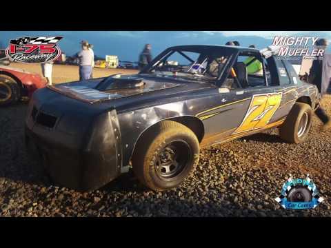 #27 Dustin Brown - Thunder - 3-25-17 I-75 Raceway - Dirt In-Car Camera