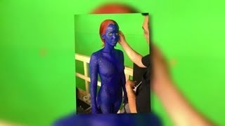 Jennifer Lawrence Gets Naked and Painted Blue as X-Men's Mystique