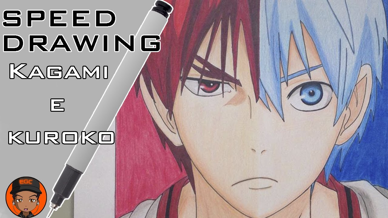 speed drawing kuroko and kagami youtube