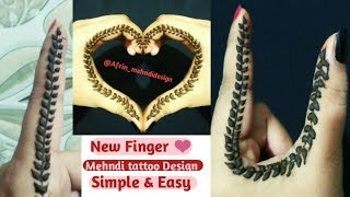I❤️U Tattoo Henna Design/cute Finger Mehndi Tattoos Ideas/love tattoos DIY @Afrin_mehndidesign