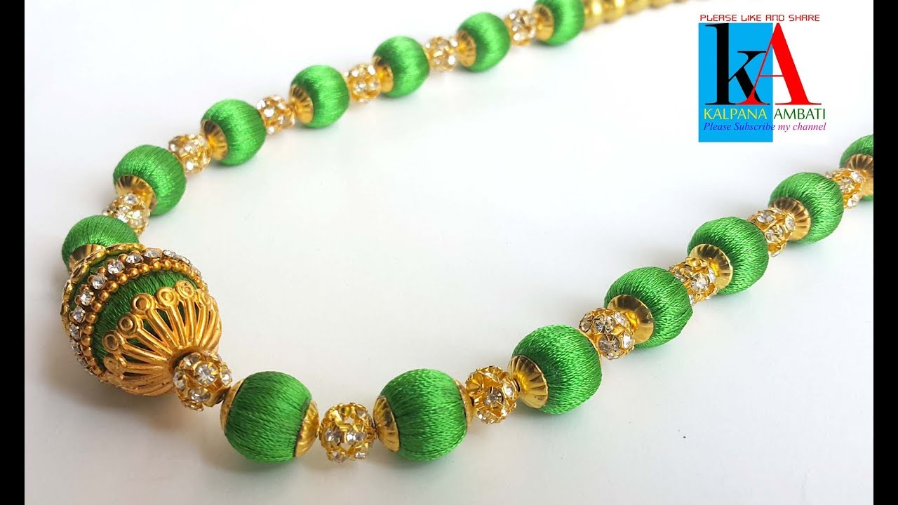 silk thread necklace making video tutorial // Fancy New Model silk ...