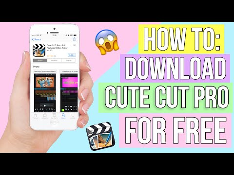 HOW TO DOWNLOAD CUTE CUT PRO FOR FREE ON IPHONE 2017🥀(working)