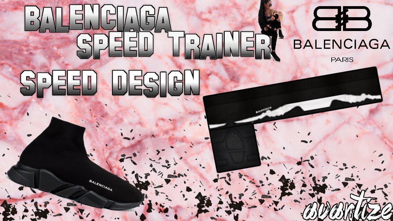 Roblox Speed Design Balenciaga Speed Trainer Youtube