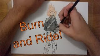 Drawing: Ghost Rider