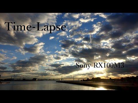 Time-lapse タイムラプス Sky Cloud 横浜 2015 (Sony RX100M3)