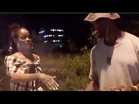 Rihanna goes back to her hood in Barbados to buy roastcorn