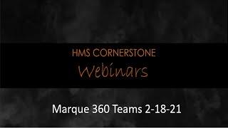 Marque360 Teams Webinar 2-18-21