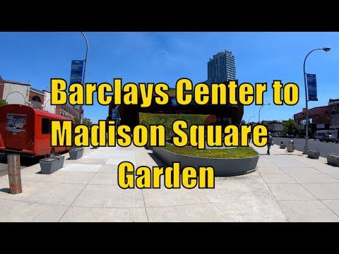 ⁴ᴷ⁶⁰ Walking From Barclays Center, Brooklyn To Madison Square Garden, Midtown Manhattan, NYC