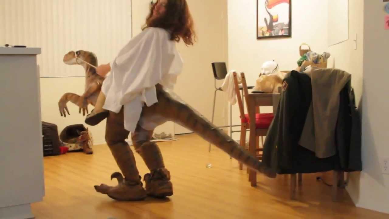 Home-Made Jesus Riding a Raptor Costume & Home-Made Jesus Riding a Raptor Costume - YouTube